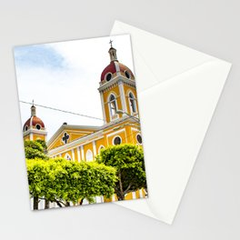 View of Granada Cathedral at the Center of Parque Central De Granada in Nicaragua Stationery Cards