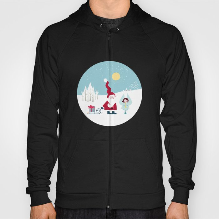 Santa and the little Angel Hoody