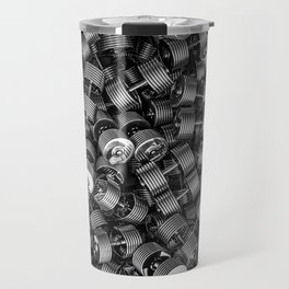 Chrome dumbbells Travel Mug