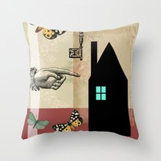 The House With The Turquoise Light On No.2 Throw Pillow