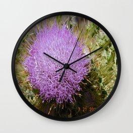 road trip, plant, nature, purple, plant top, pokey, sticker plant Wall Clock