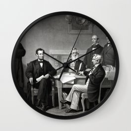 President Lincoln and His Cabinet Wall Clock