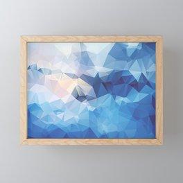 Iceberg Polygon Art Framed Mini Art Print