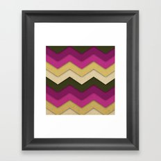Flower Field Chevron Framed Art Print
