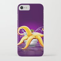 toilet iPhone & iPod Cases featuring OCTOPUS / TOILET by shttefan