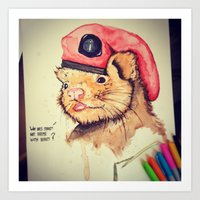 Why does ferret not rhyme with beret? Art Print