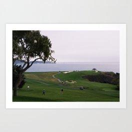 Golf place Art Print