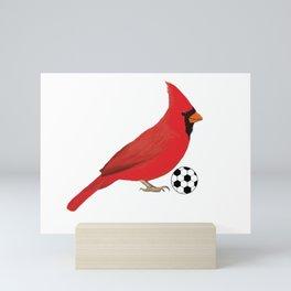 Soccer Cardinal Mini Art Print