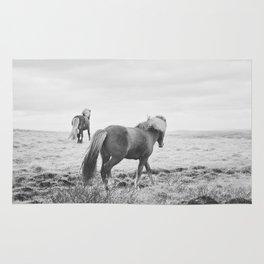 Modern Animal Print, Icelandic Horses Rug