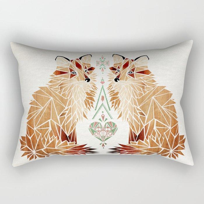 fox love Rectangular Pillow