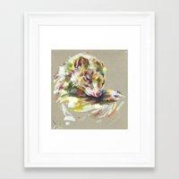 ferret Framed Art Prints featuring Ferret IV by Anaïs Chesnoy