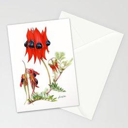 Sturt's Desert Pea Botanical Stationery Cards
