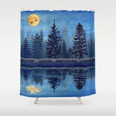 Denim Design Pine Barrens Reflection Shower Curtain