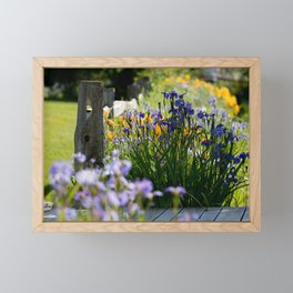Georgeson Botanical Gardens, Fairbanks Alaska, Iris and Lilies Framed Mini Art Print