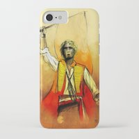 enjolras iPhone & iPod Cases featuring Enjolras, III by Flávia Marques
