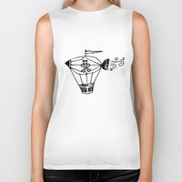 pirate ship Biker Tanks featuring Pirate Ship by Crooked Stick