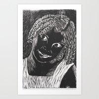 valentina Art Prints featuring valentina by Maite Trabadelo