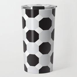 Black & Grey Hexagons Travel Mug