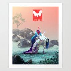 Moth X Art Print