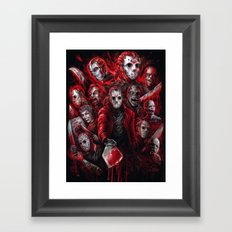 Jason Voorhees Friday the 13th Many faces of  Framed Art Print