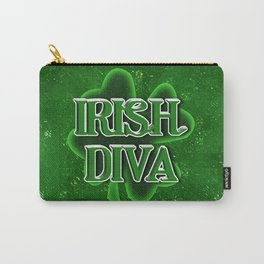 Irish Diva - St Patrick's Day Shamrock Carry-All Pouch
