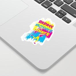 Badass Mother Runner Sticker