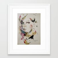 charmaine olivia Framed Art Prints featuring Olivia by Oriane Jouët