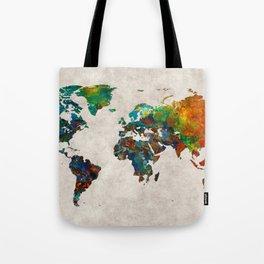 World Map 61 Tote Bag