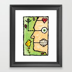 Complicated Woman Framed Art Print