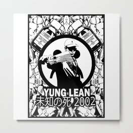 Yung Lean - Stackin it Metal Print