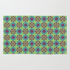 Retro Modern Flower Power Rug