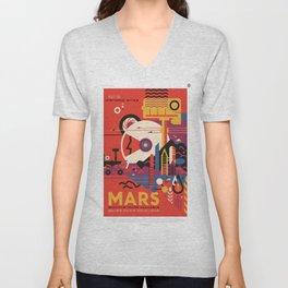 Mars Tour : Space Galaxy Unisex V-Neck
