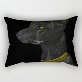 Egyptian Dog Rectangular Pillow