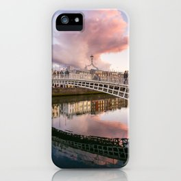 Pink Cloud over Ha'penny Bridge iPhone Case