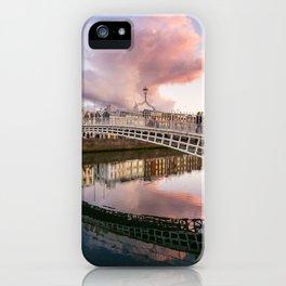 Pink Cloud over Ha'penny Bridge iPhone Case