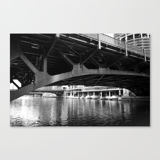 Chicago Riverwalk - Underneath State Street Bridge Canvas Print