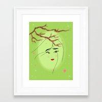 mulan Framed Art Prints featuring Mulan by Tiffany Taimoorazy