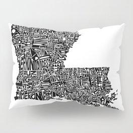 Typographic Louisiana Pillow Sham