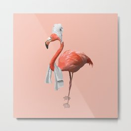 Squeaky Clean Flamingo Metal Print