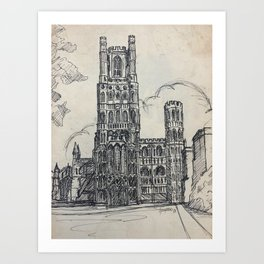 Ely Cathedral Art Print