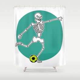 Calavera Soccer Shower Curtain