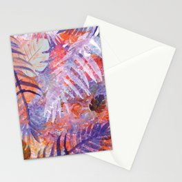 Colourful Palm Electric Garden  #tropical #palm #society6 Stationery Cards