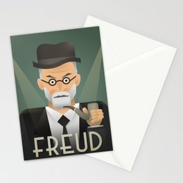 Freud Psychoanalyse Meister Stationery Cards