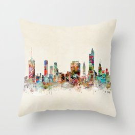 tulsa oklahoma skyline Throw Pillow