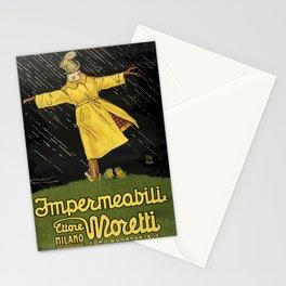 Werbeplakat impermeabili moretti. 1921 Stationery Cards