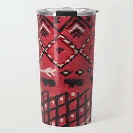 V22 Sheep herd Design Traditional Moroccan Carpet Texture. Travel Mug