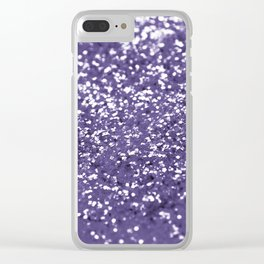 Sparkling ULTRA VIOLET Lady Glitter #1 #shiny #decor #art #society6 Clear iPhone Case