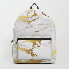White gold marble Backpack