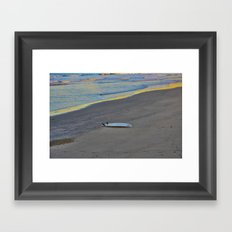 Forgotten on the Sand Framed Art Print