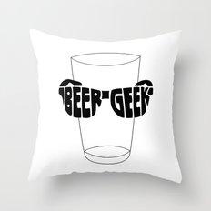 Beer Geek Throw Pillow